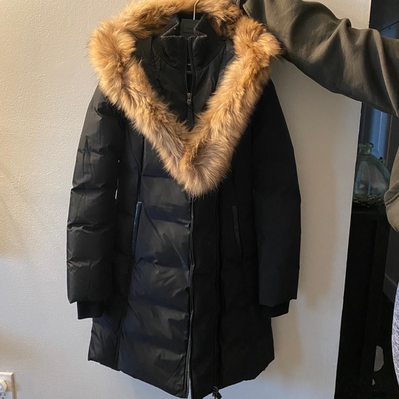'Kay' Mackage Down coat with signature natural fur